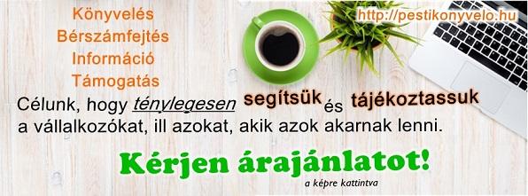 Kérjen árajánlatot könyvelésre! http://pestikonyvelo.hu